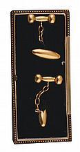 Pair 18 ct gold cufflinks