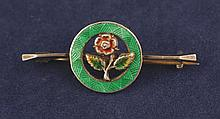 Charles Horner silver and enamel English rose