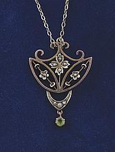 Edwardian 9 ct. gold pendant