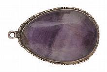 Vintage T.L. Mott Blue John pendant