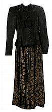 Edwardian ladies peplum jacket and full length