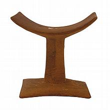 Early African carved wood headrest Provenance: