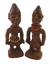 Pair nineteenth/twentieth-century African carved