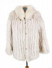 Vintage silver fox fur jacket