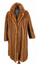 Vintage brown mink coat