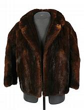 1950's brown mink jacket with three quarter length