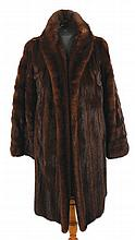 1950's chocolate brown sable mink coat