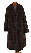 Vintage full length fur coat