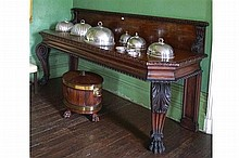 IMPORTANT WILLIAM IV PERIOD MAHOGANY SERVING TABLE