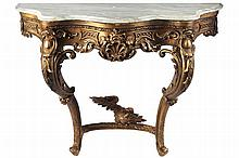 NINETEENTH-CENTURY GILT CONSOLE TABLE