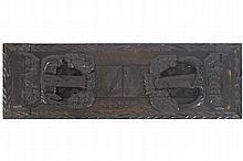 NINETEENTH-CENTURY IRISH KILLARNEY WORK BOX/ OAK BOOK SLIDE