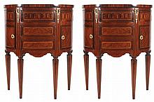 PAIR OF KINGWOOD AND PARQUETRY CABINETS