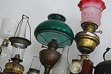 LOT OF SIX ASSORTED OIL LAMPS