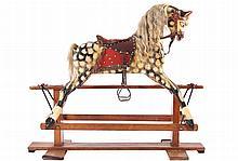 ANTIQUE POLYCHROME ROCKING HORSE
