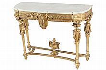 NINETEENTH-CENTURY GILT FRAMED CONSOLE TABLE