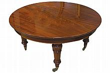 LARGE NINETEENTH-CENTURY MAHOGANY D-END DINING TABLE