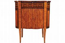 NINETEENTH-CENTURY KINGWOOD AND MARQUETRY SIDE CABINET