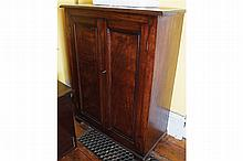 NINETEENTH-CENTURY MAHOGANY TWO DOOR CABINET