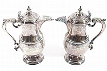AN IMPORTANT PAIR OF IRISH SILVER COVERED EWERS, THOMAS WALKER, DUBLIN 1741