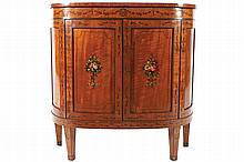 NINETEENTH-CENTURY SATINWOOD AND PAINTED SIDE CABINET