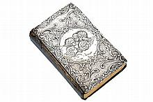 NINETEENTH-CENTURY SILVER BOUND BIBLE