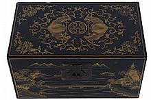 SET OF THREE GRADUATED LACQUERED CHINESE BOXES