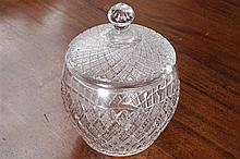 WATERFORD CRYSTAL BISCUIT  BARREL AND COVER