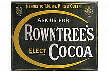 ANTIQUE ROWNTREES ELECT COCO SIGN