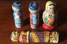 GROUP OF FOUR RUSSIAN DOLLS