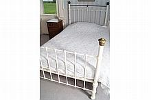 NINETEENTH-CENTURY METAL AND BRASS BED