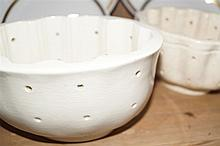 THREE CERAMIC JELLY MOULDS