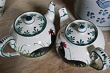 TWO WEYMS POTTERY TEA POTS