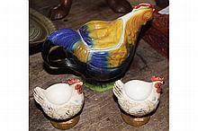 TONY WOOD ART POTTERY TEA POT