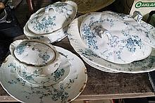LOT OF BOOTHS SEMI PORCELAIN PLATES AND TUREENS