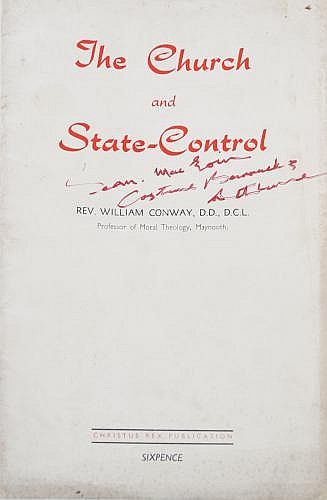 CONWAY, WILLIAM, THE CHURCH AND STATE-CONTROL Naas, 1952