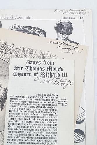 ASSORTED LOOSE PAGES FROM NEWSPAPERS