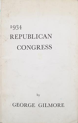 GILMORE, GEORGE, 1934 REPUBLICAN CONGRESS