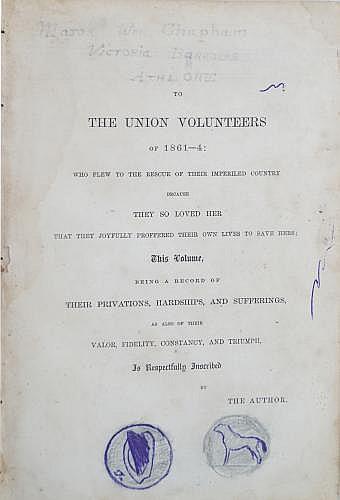 GREELEY, HORACE, THE UNION VOLUNTEERS OF 1861 _ 64. VOL. II