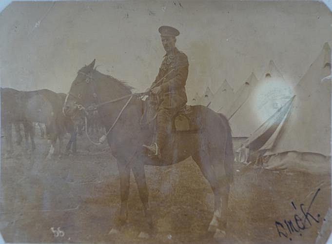 UNIDENTIFIED MOUNTED SOLDIER WITH BRITISH ARMY