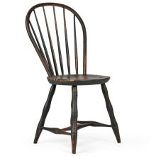 American Painted Windsor Bowback Antique Chair, Early 19th C.