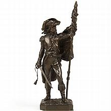 Armand LeVeel (French, 1821-1905) Military Antique Bronze Sculpture cast by Susse Freres