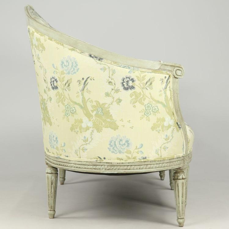 French louis xvi carved painted canape sofa settee 19th c - Sofa canape difference ...