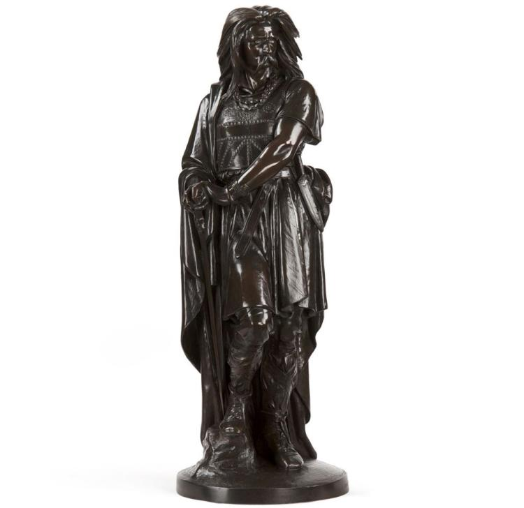 Aime Millet (French, 1819-91) Bronze Sculpture of Vercingetorix