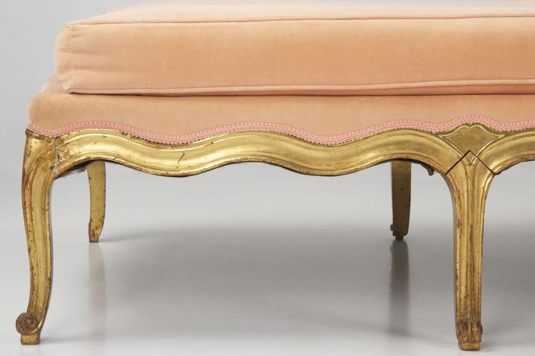 louis xv style gilded antique chaise longue 19th cen