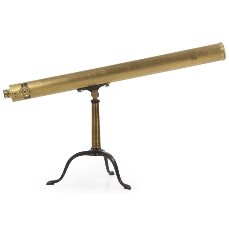 English Single-Draw Brass Telescope by D. McGregor & Co c. 1860