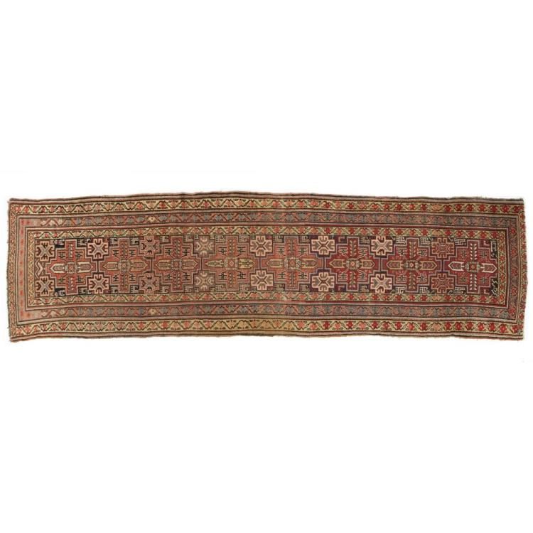 Fine Authentic Antique Caucasian Kazak Runner, Early 20th Century