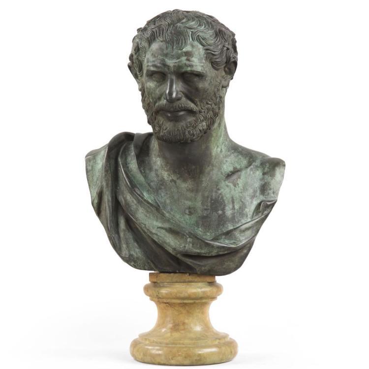 Fine Classical Bronze Sculpture of Roman Gentleman