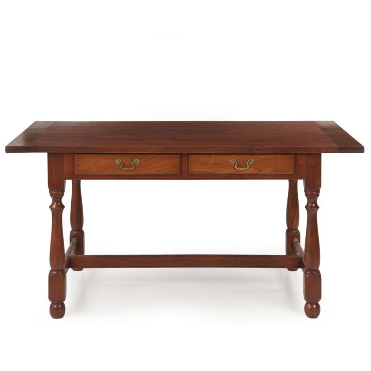 Benchmade William and Mary Style Walnut Tavern Dining Table, Pennsylvania
