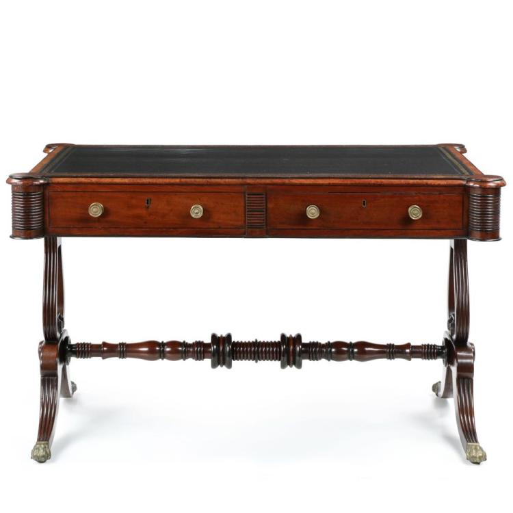English William IV Mahogany Antique Writing Table or Desk c. 1830