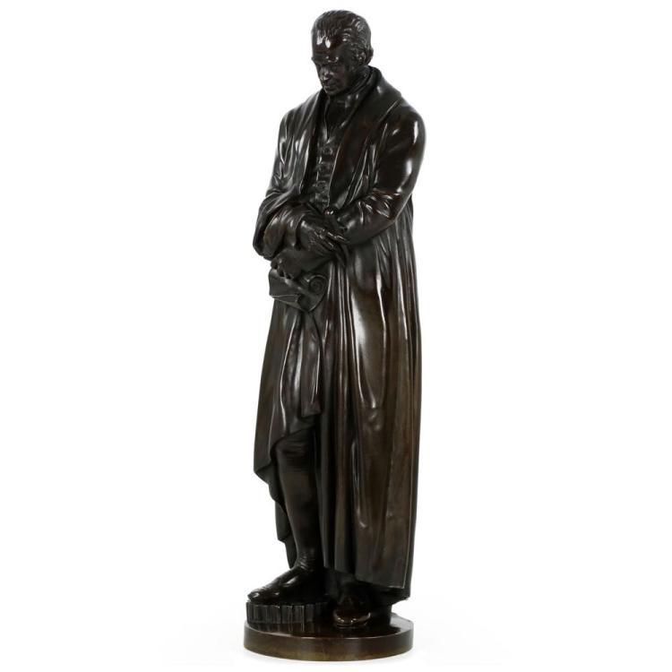Substantial Bronze Sculpture of Inventor James Watt, 19th Century